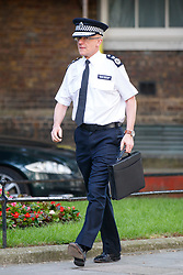 © Licensed to London News Pictures. 04/06/2017. London, UK. Assistant Commissioner MARK ROWLEY attends a COBRA security meeting in Downing Street, London following a terror attack that killed 6 people on London Bridge and Borough in central London. Photo credit: Tolga Akmen/LNP