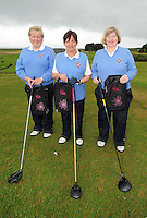 Maureen Molloy , Ger Lyons and Bridget Togher from Castlebar Golf Club  at the Galway Golf Club for the AIB Ladies Irish Open Club Challenge qualifier..Photo:Andrew Downes