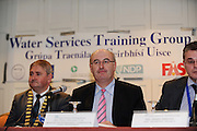 """Cllr. Michael Maher - Mayor of Galway County and Minister Phil Hogan at the Water Services Training Group 15th Annual Conference entitled """" Water Services in Ireland-Organisational Modernisation and New Challenges"""". Photo:Andrew Downes. Photo issued with compliments, no reproduction fee."""