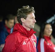 10th November 2017, McDiarmid Park, Perth, Scotland, UEFA Under-21 European Championships Qualifier, Scotland versus Latvia; Scotland under 21s head coach Scot Gemmill