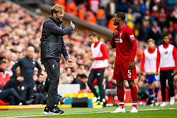 Liverpool manager Jurgen Klopp speaks to Georginio Wijnaldum of Liverpool - Mandatory by-line: Robbie Stephenson/JMP - 22/09/2018 - FOOTBALL - Anfield - Liverpool, England - Liverpool v Southampton - Premier League