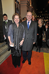 LORD & LADY DEBEN arrive at the press night of the new Andrew Lloyd Webber  musical 'The Wizard of Oz' at The London Palladium, Argylle Street, London on 1st March 2011 followed by an aftershow party at One Marylebone, London NW1