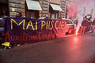 Roma 28 Febbraio 2014<br /> Le Reti Antirazziste hanno protestato sotto la sede della cooperativa Auxilium che  da quattro anni gestisce il  CIE, centro di Identificazione ed Espulsione di Ponte Galeria. <br /> Rome 28 Febraury 2014<br />  The anti-racist networks has protested under the center of the cooperative Auxilium, that manages the CIE, center of Identification and Expulsion of Bridge Galeria from four years.