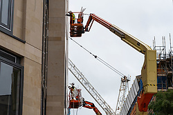 Edinburgh, Scotland, UK. 23 June, 2020. Construction is underway again at new St James Centre shopping and residential projection Edinburgh following long term stoppage during coronavirus lockdown. Iain Masterton/Alamy Live News