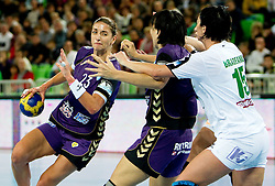Andrea Penezic of Krim  during handball match between RK Krim Mercator (SLO) and Gyori Audi Eto KC (HUN) in 3rd Round of Women's Champions league, on October 23, 2010 at SRC Stozice, Ljubljana, Slovenia. (Photo By Vid Ponikvar / Sportida.com)