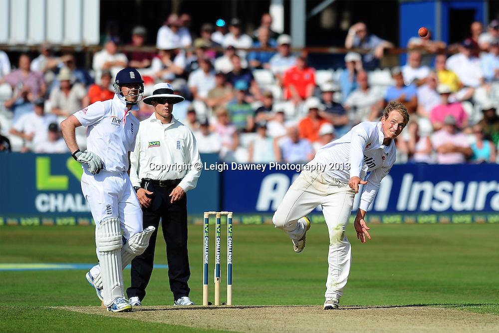 Tom Westley of Essex bowling during England v Essex first day of a four day Ashes warm up game at the Essex County Cricket Ground, 30.06.13.  Credit: © Leigh Dawney Photography. Self Billing where applicable. Tel: 07812 790920