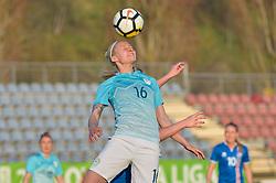 Kaja Erzen of Slovenia during women football match between National teams of Slovenia and Iceland in 2019 FIFA Women's World Cup qualification, on April 06, 2018 in Sportni park Lendava, Lendava, Slovenia. Photo by Mario Horvat / Sportida