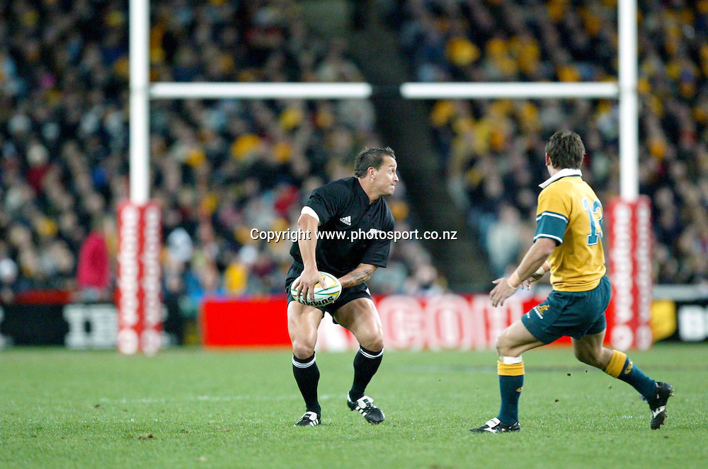 26th July, 2003. Telstra Stadium, Sydney, Australia. Bledisloe Cup. All Blacks v Wallabies.<br />