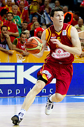 Vlado Ilievski of Macedonia during basketball game between National basketball teams of Spain and F.Y.R. of Macedonia in Semifinals  of FIBA Europe Eurobasket Lithuania 2011, on September 16, 2011, in Arena Zalgirio, Kaunas, Lithuania.  (Photo by Vid Ponikvar / Sportida)