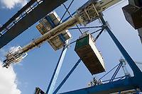 Limassol Cyprus dockside crane.