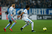 Olympique de Marseille's Brasilian midfielder Luiz Gustavo vies for the ball during the French Championship Ligue 1 football match between Olympique de Marseille and AS Monaco on January 28, 2018 at the Orange Velodrome stadium in Marseille, France - Photo Benjamin Cremel / ProSportsImages / DPPI