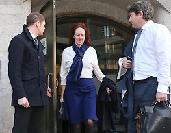 Rebekah and Charlie Brooks leaving the Phone Hacking trial at the Old Bailey in London, Thursday, 20th February 2014. Picture by Stephen Lock / i-Images