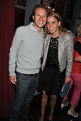 PRINCESS BEATRICE OF YORK and DAVE CLARK at a party to celebrate the opening of Bunga Bunga - a new Pizzeria & Bar, 37 Battersea Bridge Road, London SW11 on 1st September 2011.