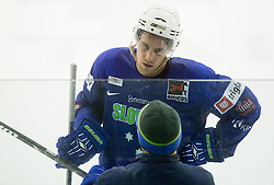 Anze Kopitar and his father Matjaz Kopitar, head coach during practice session of Slovenian National Ice Hockey Team prior to the IIHF World Championship in Ostrava (CZE), on April 21, 2015 in Hala Tivoli, Ljubljana, Slovenia. Photo by Vid Ponikvar / Sportida