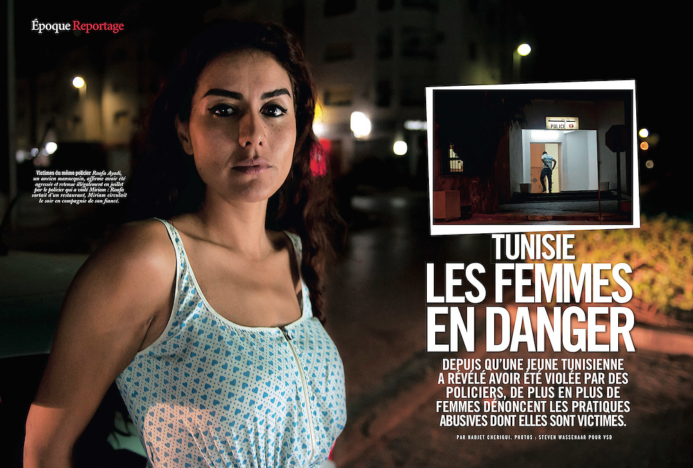 Assignment. Story about police abuse against women, especially since the arrival of the Islamic government. (Tunisia)