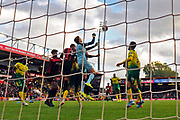 Tim Krul (1) of Norwich City punches the ball clear of danger during the Premier League match between Bournemouth and Norwich City at the Vitality Stadium, Bournemouth, England on 19 October 2019.