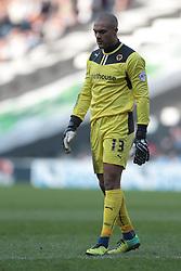 Wolverhampton Wanderers goalkeeper Carl Ikeme (13)  - Photo mandatory by-line: Nigel Pitts-Drake/JMP - Tel: Mobile: 07966 386802 29/03/2014 - SPORT - FOOTBALL -  Stadium MK - Milton Keynes - Milton Keynes Dons v Wolverhampton Wanderers - Sky Bet League One