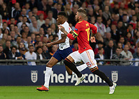 Football - 2018 / 2019 UEFA Nations League A - Group Four: England vs. Spain<br /> <br /> Marcus Rashford (England) and Sergio Ramos (Spain) race for the ball at Wembley Stadium.<br /> <br /> COLORSPORT/DANIEL BEARHAM