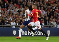 Football - 2018 / 2019 UEFA Nations League A - Group Four: England vs. Spain<br /> <br /> Marcus Rashford (England) and Sergio Ramos (Spain) race for the ball at Wembley Stadium.<br /> <br /> COLORSPORT/DANIEL BEARHAM