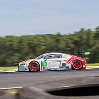 Alton, VA - Aug 26, 2016:  The Stevenson Motorsports Audi races through the turns at the Oak Tree Grand Prix at Virginia International Raceway in Alton, VA.