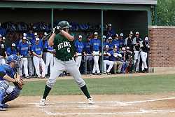 11 May 2013:  Nick Hahn during an NCAA division 3 College Conference of Illinois and Wisconsin (CCIW) Pay in Baseball game during the Conference Championship series between the North Park Vikings and the Illinois Wesleyan Titans at Jack Horenberger Stadium, Bloomington IL
