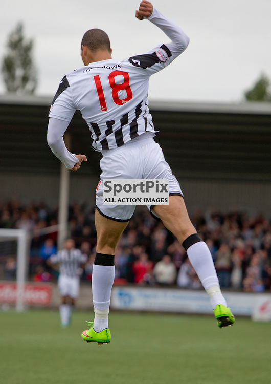 Stenhousemuir v Dunfermline Athletic SPFL League One Season 2015/16 Ochilview Park 19 September 2015<br /> Mickael Antoine-Curier celebrates making it 5-0<br /> CRAIG BROWN | sportPix.org.uk