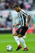 DeAndre Yedlin (#22) of Newcastle United on the ball during the Premier League match between Newcastle United and Arsenal at St. James's Park, Newcastle, England on 15 September 2018.