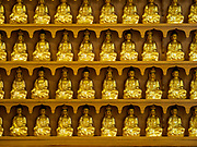 14 JUNE 2018 - SEOUL, SOUTH KOREA: Buddhas in niches at Chungjeongsa Temple, a Buddhist temple in Seoul. Koreans practice Tongbulgyo Buddhism, a derivative of Mahayana Buddhism, prevalent in China.       PHOTO BY JACK KURTZ