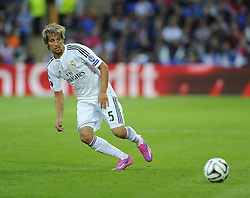 Real Madrid's Fabio Coentrao - Photo mandatory by-line: Joe Meredith/JMP - Mobile: 07966 386802 12/08/2014 - SPORT - FOOTBALL - Cardiff - Cardiff City Stadium - Real Madrid v Sevilla - UEFA Super Cup