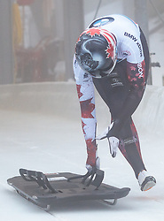 15.12.2017, Olympia Eisbahn, Igls, AUT, BMW IBSF Weltcup und EM, Igls, Sekeleton Damen, 1. Lauf, im Bild Jane Channell (CAN) // Jane Channell of Canada during 1st run of women's Skeleton competition of BMW IBSF World Cup and European Championship at the Olympia Eisbahn in Igls, Austria on 2017/12/15. EXPA Pictures © 2017, PhotoCredit: EXPA/ Johann Groder