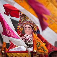 A Mazu icon in the parade. <br />