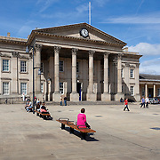 Huddersfield Railway Station, St Georges Square, Huddersfield.  Built between 1846-1850 in the neo-classical style it was described by Nicholas Pevsner as one of the best early railway stations in England.