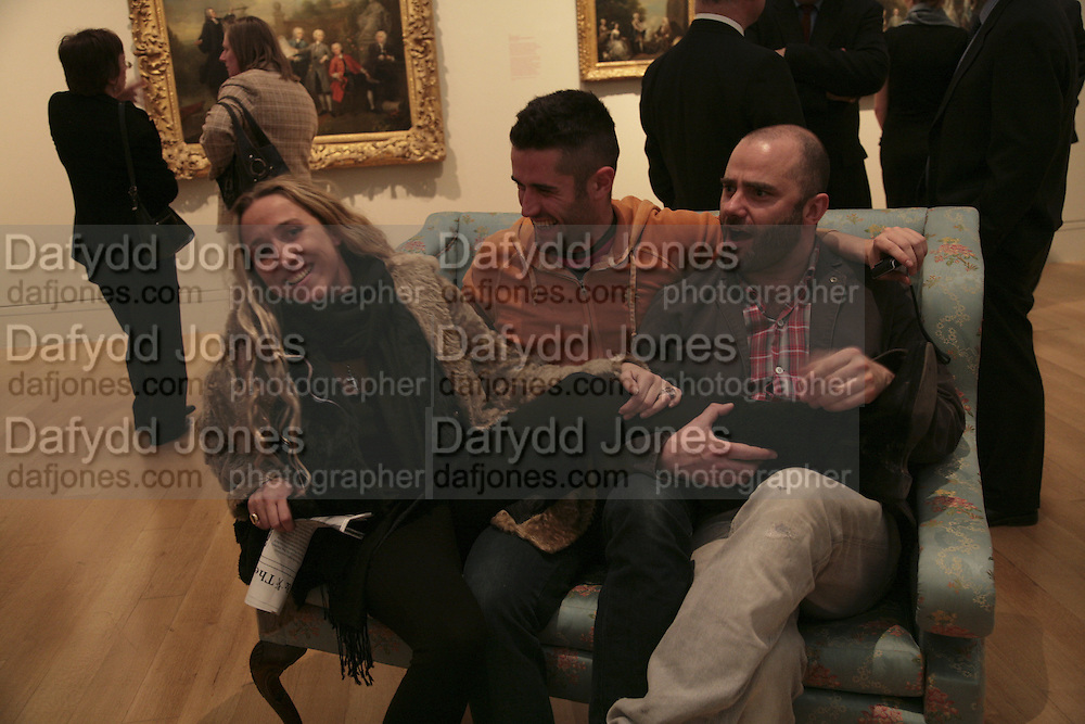 Amelia Troubridge, Jorge Mondero and James Collard, Hogarth private view and dinner. Tate Britain. London. 5 February 2007.  -DO NOT ARCHIVE-© Copyright Photograph by Dafydd Jones. 248 Clapham Rd. London SW9 0PZ. Tel 0207 820 0771. www.dafjones.com.