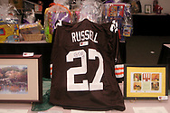 One of the items in the silent auction was this Cleveland Browns replica jersey autographed by defensive back  Brian Russell at the 17th Artemis Center Gala, Saturday night.