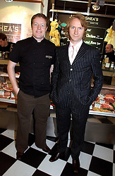 Left to right, DARRAGH O'SHEA and JACK O'SHEA at the opening of Jack O'Shea's butcher, Montpelier Street, London on 9th November 2006.  <br /><br /><br />NON EXCLUSIVE - WORLD RIGHTS