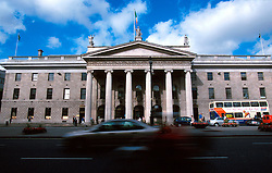 IRELAND DUBLIN JUL99 - A general view of Dublin's famous General Post Office (GPO) from the other side of O'Connell Street. Opened in 1818, almost a century later it came to fame as the rebel headquarters in one of the most significant battles in the fight for independence...jre/Photo by Jiri Rezac..© Jiri Rezac 1999..Contact: +44 (0) 7050 110 417.Mobile: +44 (0) 7801 337 683.Office: +44 (0) 20 8968 9635..Email: jiri@jirirezac.com.Web: www.jirirezac.com..© All images Jiri Rezac 1999 - All rights reserved.