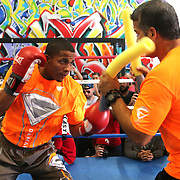 KISSIMMEE, FL - OCTOBER 05: Puerto Rican boxer Felix Verdejo is seen during his media workout event at the Kissimmee Boxing Gym on October 4, 2015 in Kissimmee, Florida. Verdejo is returning from a hand injury and announced his next fight will take place in Kissimmee on October 31. (Photo by Alex Menendez/) *** Local Caption *** Felix Verdejo