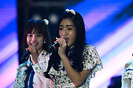 BURIRAM, THAILAND - OCTOBER 07: Jennis of BNK48  performing on the main stage after the MotoGP PTT Thailand Grand Prix 2018, Chang International Circuit, Buriram, Thailand on October 07, 2018. <br /> .<br /> .<br /> .<br /> (Photo by: Naratip Golf Srisupab/SEALs Sports Images)<br /> .<br /> Any image use must include a mandatory credit line adjacent to the content which should read: Naratip Golf Srisupab/SEALs Sports Images