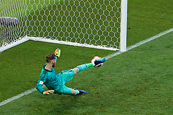 MOSCOW, RUSSIA - Sunday, July 1, 2018: Spain's goalkeeper David De Gea looks on as he concedes the fourth penalty of the shoot-out against Russia during the FIFA World Cup Russia 2018 Round of 16 match between Spain and Russia at the Luzhniki Stadium. Russia won 4-3 on penalties after a 1-1 draw. (Pic by David Rawcliffe/Propaganda)