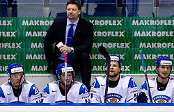 Head coach  of Finland Jukka Jalonen during ice-hockey match between Germany and Finland of Group E in Qualifying Round of IIHF 2011 World Championship Slovakia, on May 6, 2011 in Orange Arena, Bratislava, Slovakia. Finland defeated Germany 5-4 after overtime and shootout. (Photo By Vid Ponikvar / Sportida.com)