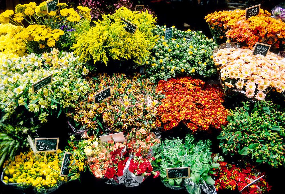 Flowers, Market, Rue St. Andre des Arts, Left Bank, Paris, France