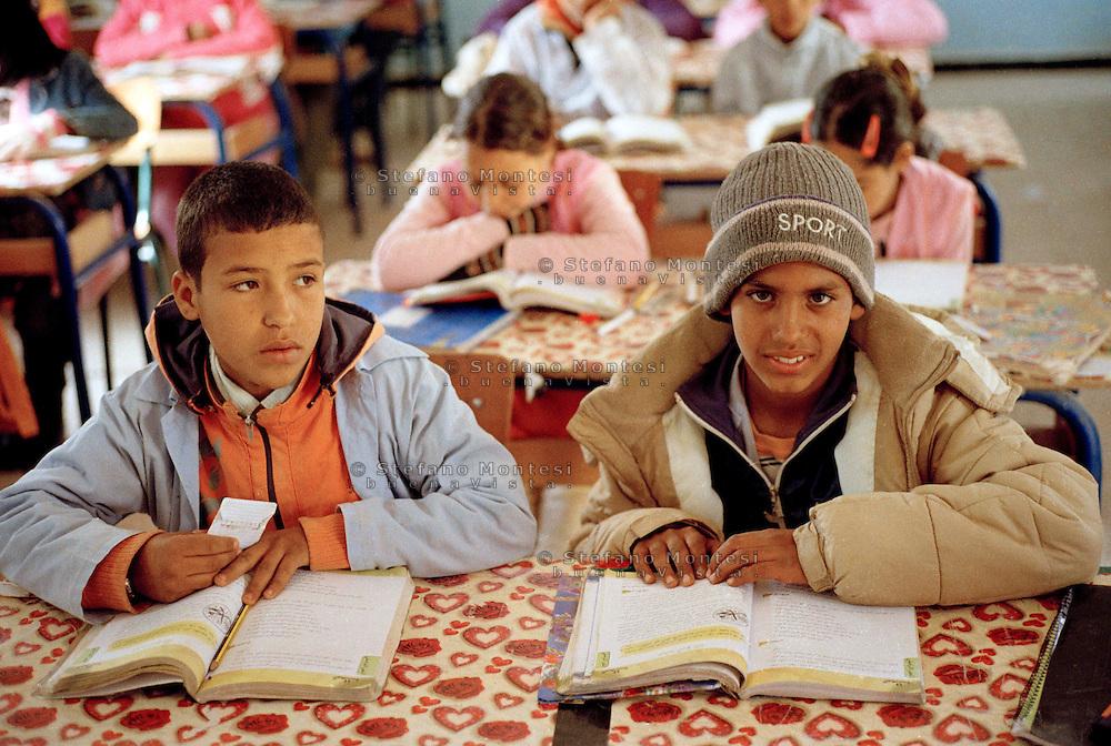 Febbraio 2012.<br /> The Saharawi refugee camp Smara.<br /> The school Simon Bolivar