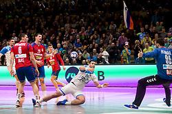 Igor Zabic of Slovenia during Handball friendly match before EURO 2018 between Slovenia and Serbia, on January 10, 2018 in Rdeca dvorana, Velenje, Slovenia. Photo by Urban Urbanc / Sportida
