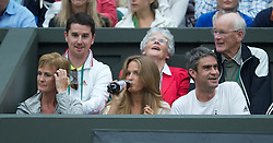 LONDON, ENGLAND - Monday, June 20, 2011: Andy Murray's mother Judith (Judy) and his girlfriend Kim Sears during the Gentlemen's Singles 1st Round on day one of the Wimbledon Lawn Tennis Championships at the All England Lawn Tennis and Croquet Club. (Pic by David Rawcliffe/Propaganda)