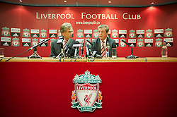 LIVERPOOL, ENGLAND - Thursday, July 1, 2010: Liverpool Football Club's new manager Roy Hodgson with Chairman Martin Broughton during a press conference at Anfield. (Pic by David Rawcliffe/Propaganda)