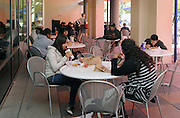 College students eat lunch in Tucson, Arizona, USA.