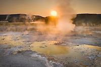 Geyser Basin Sunrise, Yellowstone National Park