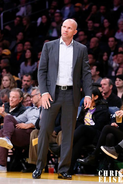 27 February 2015: Milwaukee Bucks head coach Jason Kidd is seen during the Los Angeles Lakers 101-93 victory over the Milwaukee Bucks, at the Staples Center, Los Angeles, California, USA.