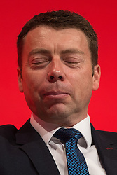 © Licensed to London News Pictures . 25/09/2016 . Liverpool , UK. IAIN MCNICOL at the ACC in Liverpool Docks , on the first day of the Labour Party Conference . Photo credit : Joel Goodman/LNP