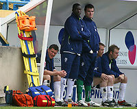Photo: Paul Thomas.<br /> Preston North End v Birmingham City. Coca Cola Championship. 06/05/2007.<br /> <br /> David Nugent (L) of Preston sits on the bench after coming off.